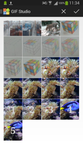 Image Selection in GIF Studio