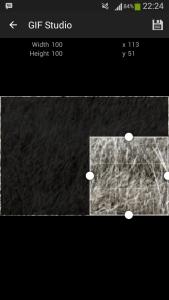 GIF Studio - Crop the gif to correct size