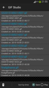 GIF工作室 - 最近保存的文件